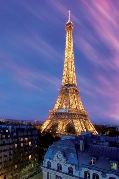 Eiffel Tower At Dusk poster print by  Unknown