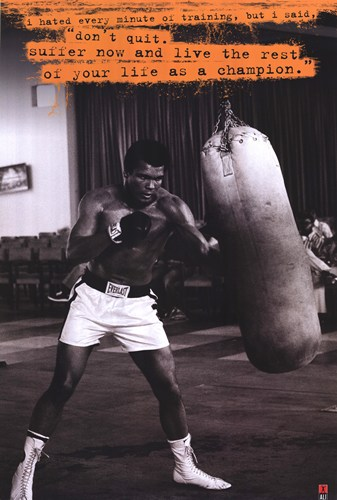 Muhammad Ali (Punchbag) poster print by  Unknown