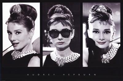 Audrey Hepburn (triptych) poster print by Unknown
