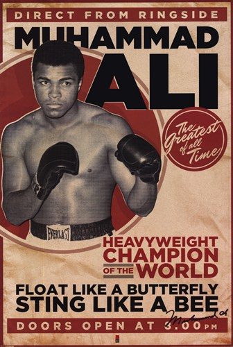 Muhammad Ali - Vintage poster print by  Unknown
