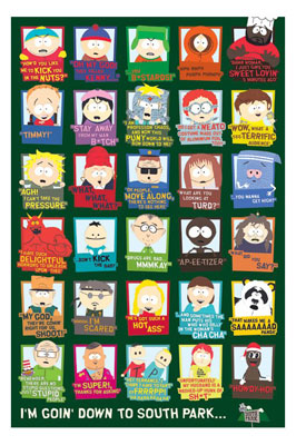 South Park Quotes poster print by  Novelty