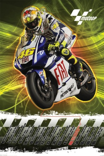 Moto GP (Valentino Rossi 2010) Art Prints & Posters | PictureStore , poster, framed art, art ...