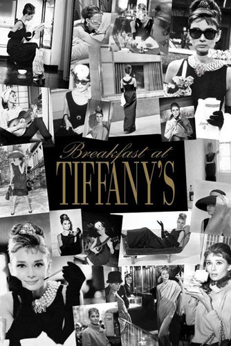 Audrey Hepburn Breakfast at Tiffany's poster print by Novelty