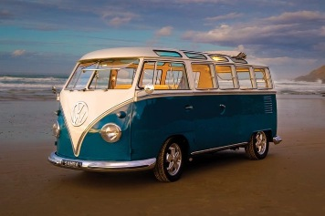Combi Van - Blue Skyview poster print by  Novelty