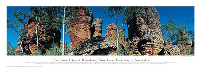 The Lost City of Bukalara, Northern Territory - Australia poster print by Phil Gray