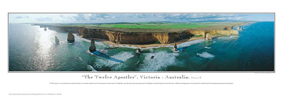 The Twelve Apostles - series 2 poster print by Phil Gray
