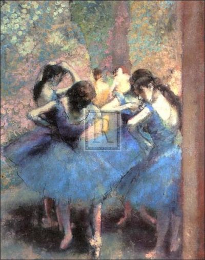 Blue Dancers poster print by Edgar Degas
