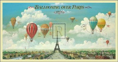 Ballooning Over Paris poster print by I Lane