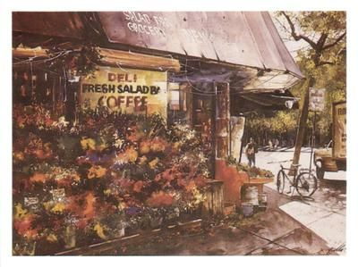 Greenwich Village Flowers poster print by Angelo Gallo
