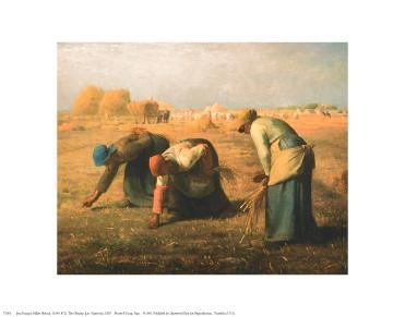 Gleaners poster print by Jean Francois Millet