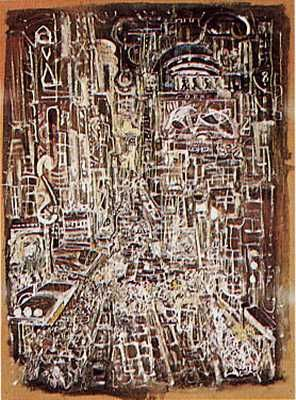Broadway 1936 poster print by Mark Tobey