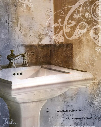 Bath Room & Ornaments II poster print by Patricia Pinto
