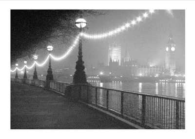 River Thames By Night poster print by  Hathaway