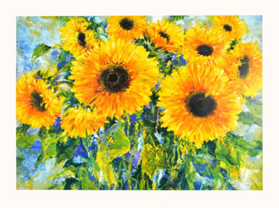 Sunflowers poster print by  Fontana