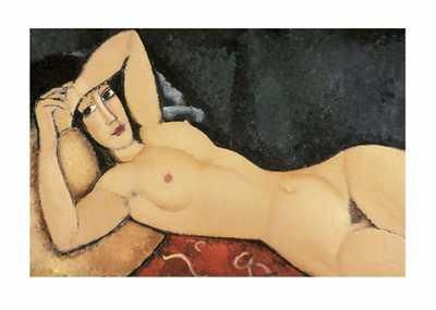 Lying Nude poster print by Amedeo Modigliani