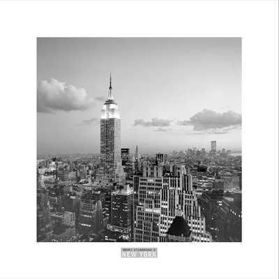 Empire State Building poster print by Henri Silberman