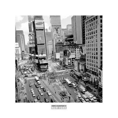 Times Square Afternoon poster print by Henri Silberman