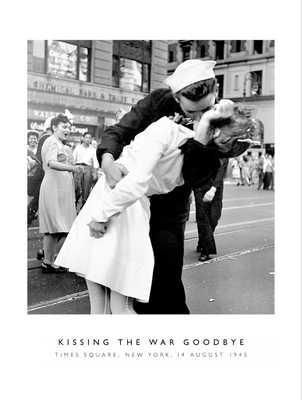 Kissing The War Goodbye poster print by Alfred Eisenstaedt
