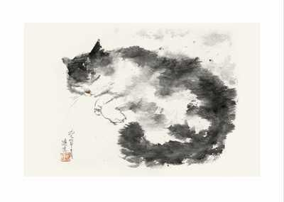 Oriental Cat II poster print by DehongChen