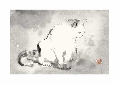 Oriental Cat III poster print by DehongChen