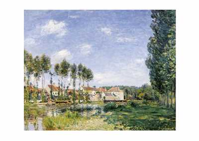 Moret Bords du Loing poster print by AlfredSisley