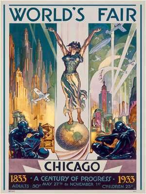 Chicago World's Fair, 1933 poster print by Glen C Sheffer