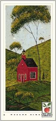 Country Panel IV-School House poster print by Warren Kimble