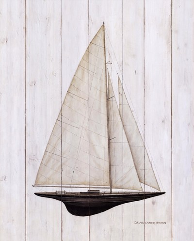 Sailboat II poster print by David Carter Brown