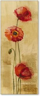 Golden Poppies II poster print by Silvia Vassileva