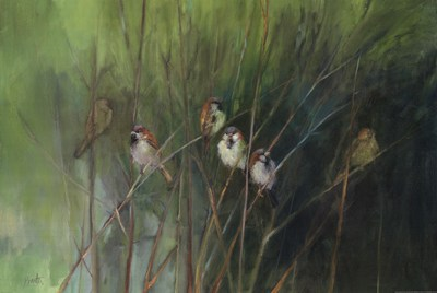 Summer Sparrows poster print by Ellen Granter
