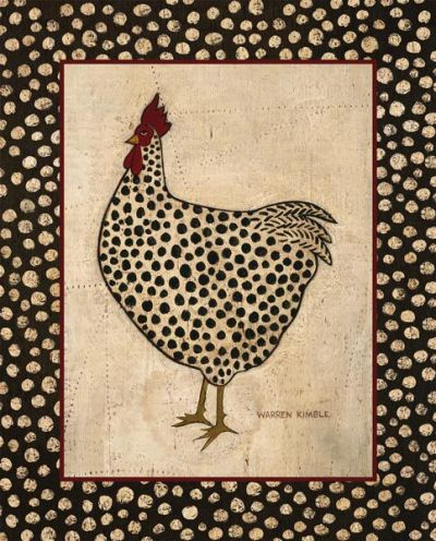 Spotted Chicken poster print by Warren Kimble