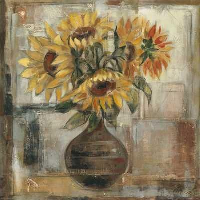 Sunflowers In Bronze Vase poster print by Silvia Vassileva