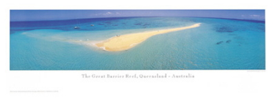 Sand Cay poster print by Phil Gray