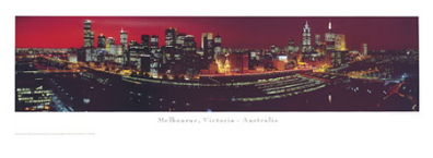 Melbourne poster print by Phil Gray