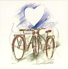 Bicycle Romance poster print by Alfred Gockel