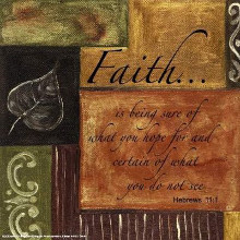 Words To Live By, Decor...Faith poster print