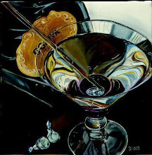 Martini - Chocolate poster print by Debbie Dewitt