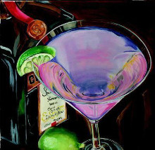 Martini - Cosmo poster print by Debbie Dewitt