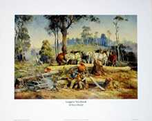 Loggers Tea Break poster print