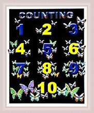 Counting - Butterflies poster print by  Licenced Kids