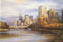 Melbourne from the Yarra poster print