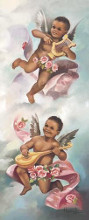 Black Cherubs poster print by Beverly Lopez