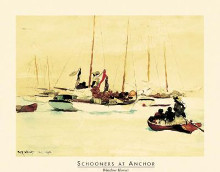 Schooners At Anchor poster print by Winslow Homer