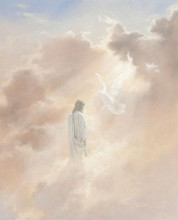 Christ In Clouds poster print