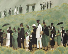 Funeral March poster print by Charles Carol Coleman