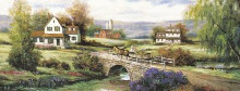 Farm With Stone Bridge poster print by Tc Chiu