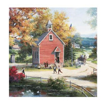Country Schoolhouse poster print by Tc Chiu