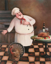 Turkey Chef I poster print by Tc Chiu