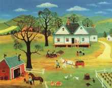 Chores on the Farm poster print