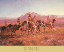 Sun River War Party poster print by Charles Marion Russell
